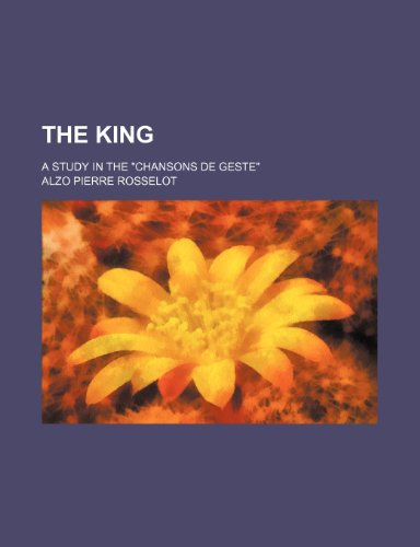 9781236122421: The king; a study in the