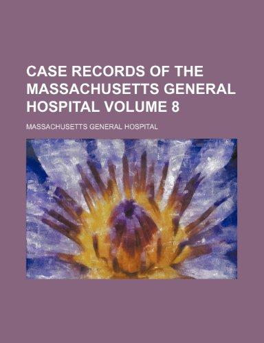 9781236146922: Case Records of the Massachusetts General Hospital Volume 8