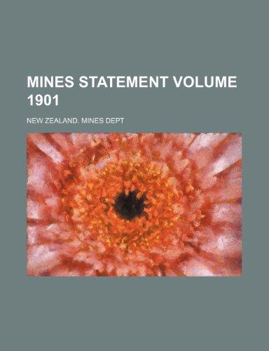 9781236204226: Mines statement Volume 1901