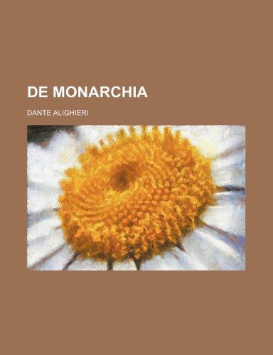 9781236204578: De monarchia