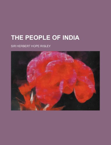 9781236212221: The people of India