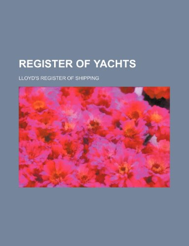 9781236215628: Register of yachts