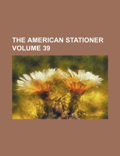 9781236231758: The American stationer Volume 39