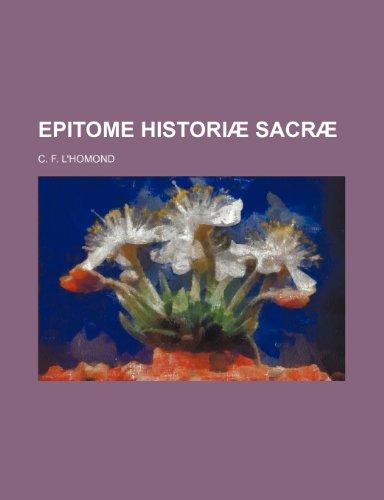9781236279262: Epitome Historiae Sacrae