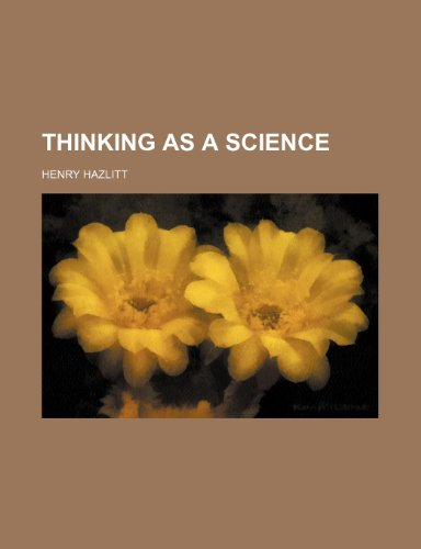 9781236302823: Thinking as a Science