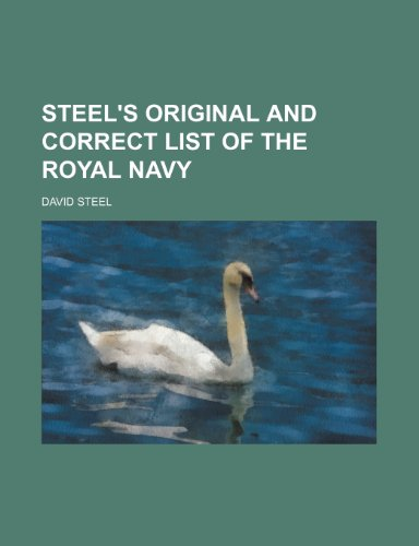 Steel's original and correct list of the royal navy (9781236310040) by Steel, David