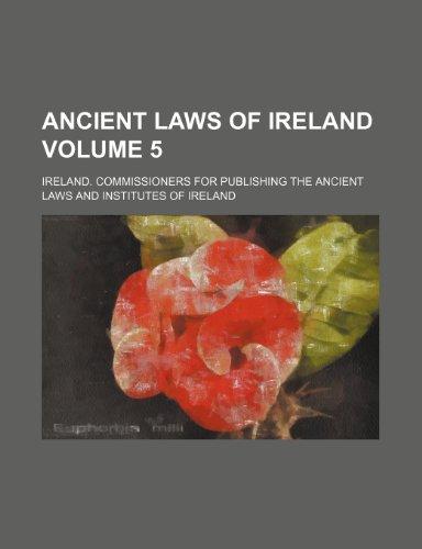 9781236328397: Ancient Laws of Ireland Volume 5