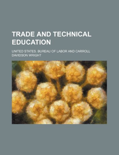 9781236419958: Trade and technical education