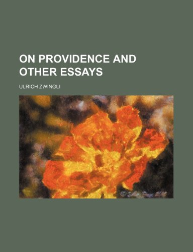 9781236511188: On providence and other essays