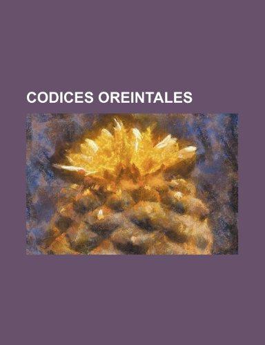 9781236513717: Codices Oreintales