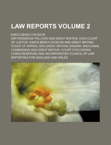 9781236536815: Law Reports; King's Bench Division Volume 2