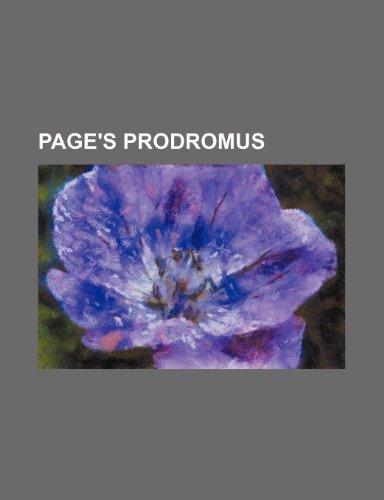 9781236556370: Page's Prodromus