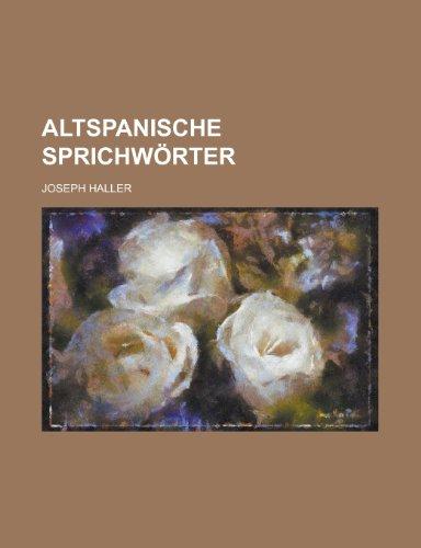 9781236620507: Altspanische Sprichworter