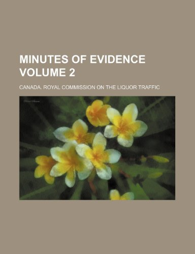 9781236651327: Minutes of Evidence Volume 2