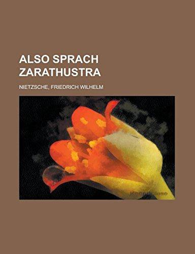 9781236711373: Also Sprach Zarathustra