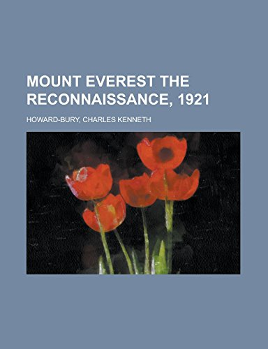 9781236723710: Mount Everest the Reconnaissance, 1921