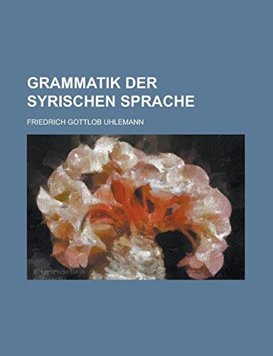 9781236833082: Grammatik Der Syrischen Sprache