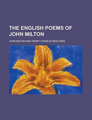 9781236881465: The English Poems of John Milton