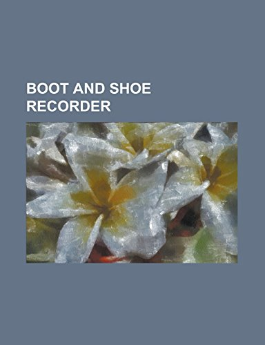 9781236941244: Boot and Shoe Recorder Volume 26