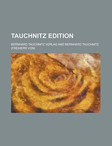 9781236992314: Tauchnitz edition