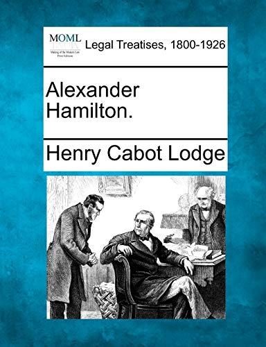 9781240007158: Alexander Hamilton.
