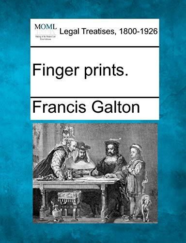 9781240078622: Finger prints  - AbeBooks - Francis Galton