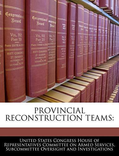 9781240538317: Provincial Reconstruction Teams