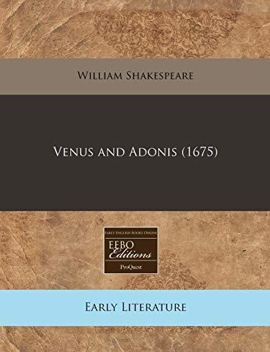 9781240808502: Venus and Adonis (1675)