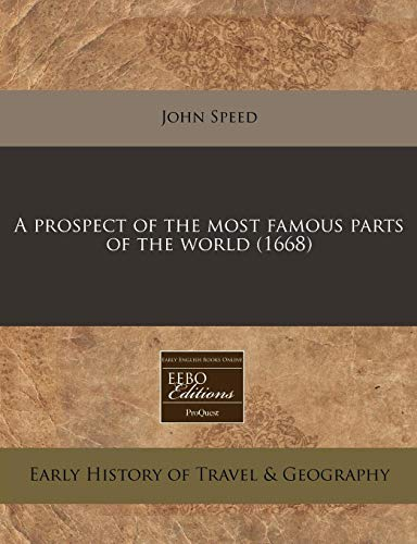 A Prospect of the Most Famous Parts: John Speed