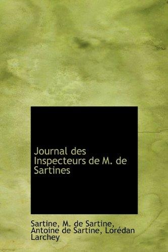 9781241290498: Journal Des Inspecteurs de M. de Sartines