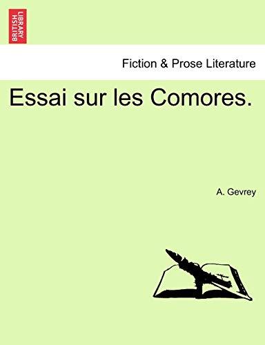 9781241315443: Essai sur les Comores. (French Edition)