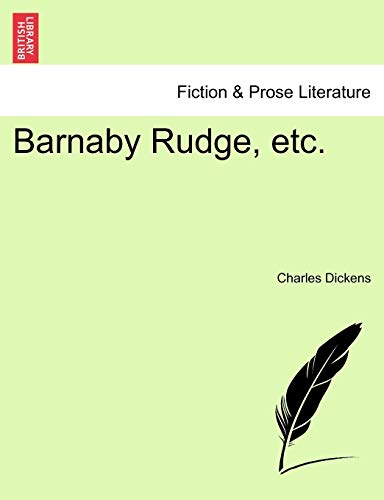 Barnaby Rudge, etc. - Charles Dickens