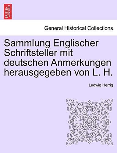 9781241541002: Sammlung Englischer Schriftsteller mit deutschen Anmerkungen herausgegeben von L. H. SECHSTES BAENDCHEN