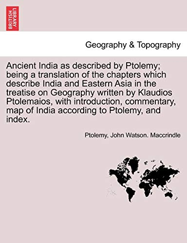 Ancient India as described by Ptolemy; being: Ptolemy