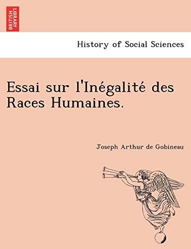 9781241741853: Essai sur l'Inégalité des Races Humaines. (French Edition)