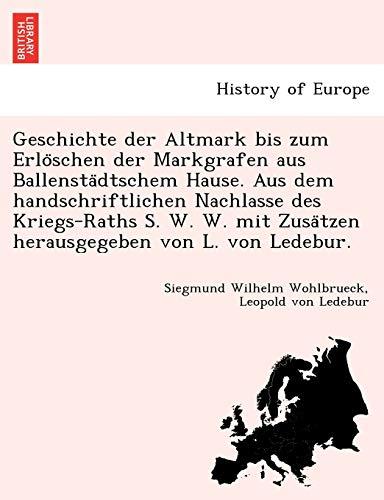 Geschichte der Altmark bis zum Erlöschen der