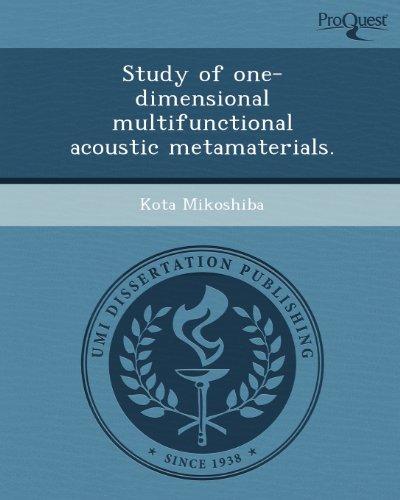 Study of one-dimensional multifunctional acoustic metamaterials.: Mikoshiba, Kota