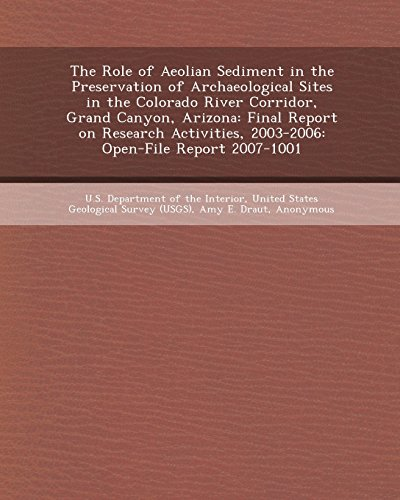 9781243464651: The Role of Aeolian Sediment in the Preservation of Archaeological Sites in the Colorado River Corridor, Grand Canyon, Arizona: Final Report on Resear