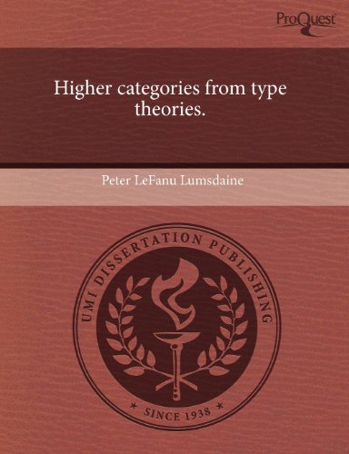 Higher categories from type theories.: Lumsdaine, Peter LeFanu