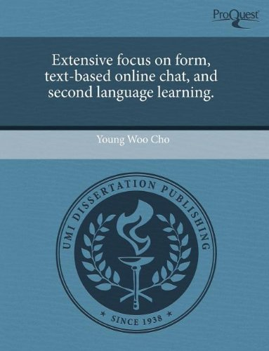 9781243559791: Extensive focus on form, text-based online chat, and second language learning.