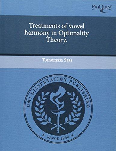 Treatments of Vowel Harmony in Optimality Theory (Paperback): Tomomasa Sasa