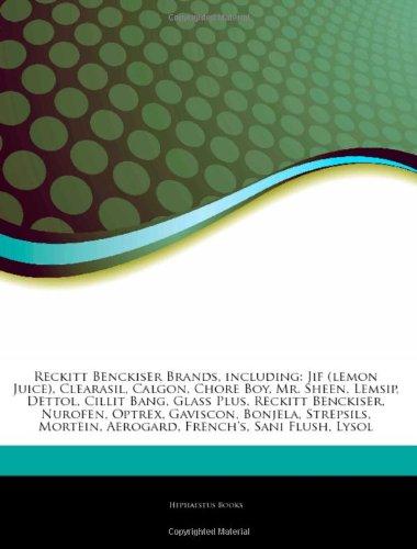 9781243967244: Articles on Reckitt Benckiser Brands, Including: Jif (Lemon Juice), Clearasil, Calgon, Chore Boy, Mr. Sheen, Lemsip, Dettol, Cillit Bang, Glass Plus,