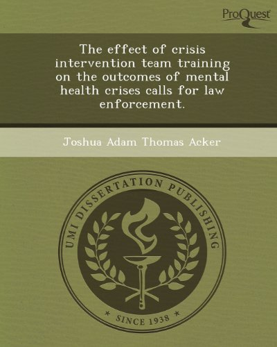 The effect of crisis intervention team training on the outcomes of mental health crises calls for ...