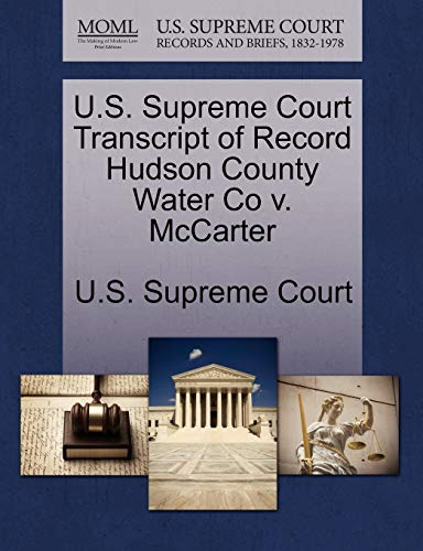 U.S. Supreme Court Transcript of Record Hudson County Water Co v. McCarter