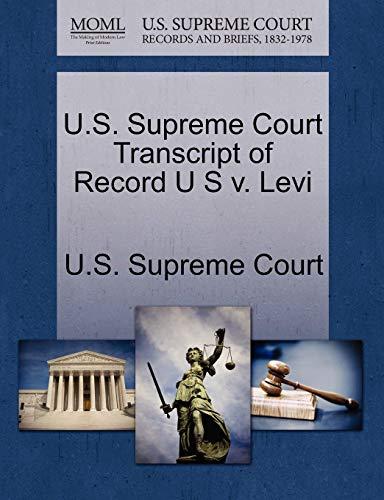U.S. Supreme Court Transcript of Record U S v. Levi