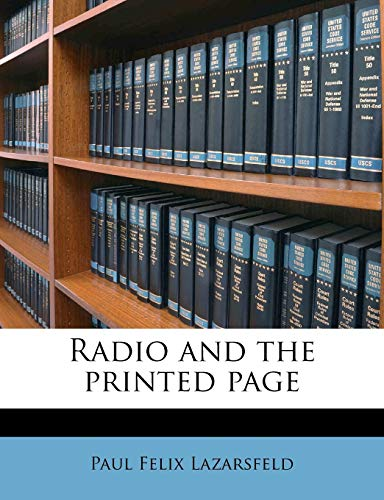 9781245210317: Radio and the printed page