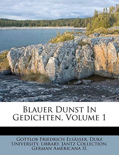 9781245409490: Blauer Dunst In Gedichten, Volume 1