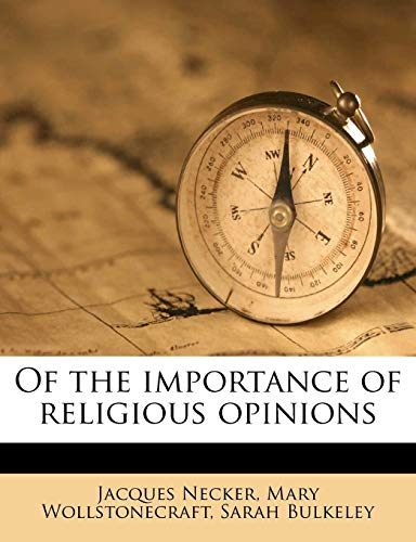 9781245426657: Of the Importance of Religious Opinions