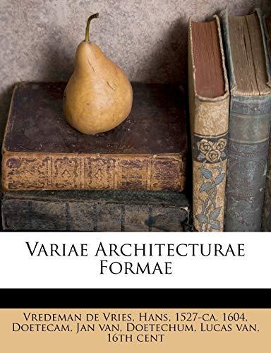 9781245616522: Variae Architecturae Formae (Latin Edition)