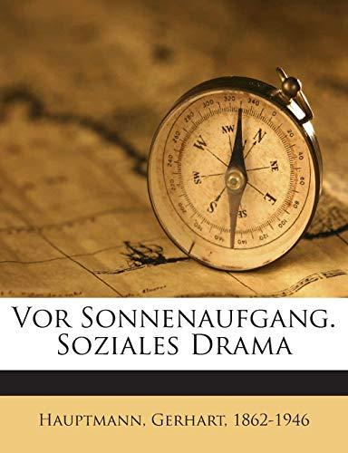 9781245917285: Vor Sonnenaufgang. Soziales Drama